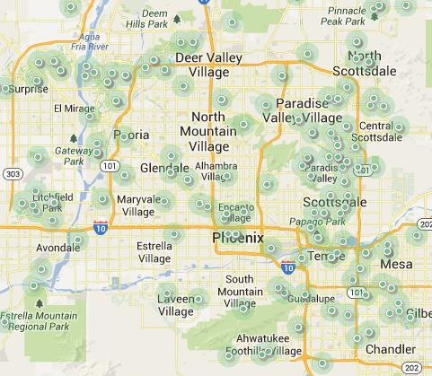 Phoenix Golf Map